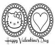Printable cute hello kitty valentines day scb28 coloring pages
