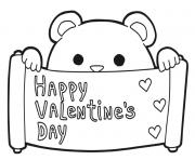 Printable cute bear valentines s16e4 coloring pages