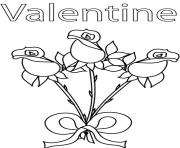 Printable roses valentine s302a coloring pages