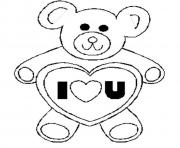 valentines day s bear i love ucd60 coloring pages