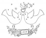 two dove valentine 5537 coloring pages