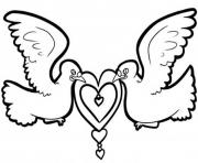 Printable valentine  dove0d20 coloring pages