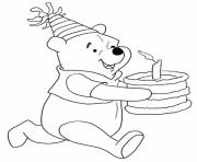 Printable winnie bring the cake free birthday sb363 coloring pages