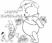 Printable winnie the pooh and piglet s of christmasfdb8 coloring pages