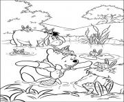 Printable tiger and piglet with frogs page192e coloring pages