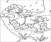 pooh and piglets playing with muds page7990 coloring pages