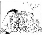 Printable winnie the pooh  with friends looking the stars15ac coloring pages