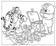 pooh and friends having picnic page50f7 coloring pages