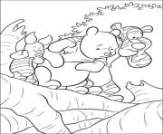 Printable pooh and friends on a cliff page4aa4 coloring pages