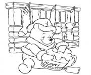 Printable pooh having honey page1e95 coloring pages