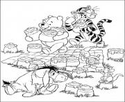 pooh and friends colecting honey pagec027 coloring pages
