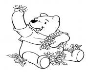 flowers and winnie the pooh s80e2 coloring pages