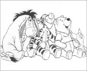 Printable pooh and friends sitting together page5993 coloring pages