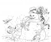 Printable free winter s winnie the pooh1466 coloring pages