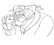 Printable beast hugging belle ffe3 coloring pages