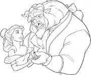 Beast Taking Belle Dance Disney Princess 035d Coloring Pages