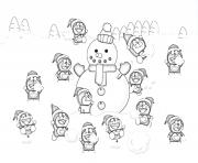 doraemon and snowman s to print6fd3 coloring pages