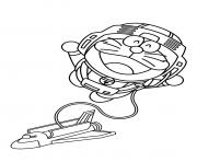 doraemon and space ship 5bbe coloring pages