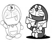 Printable doraemon got love letters sb8d3 coloring pages