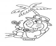 Printable relaxing doraemon cartoon sf012 coloring pages