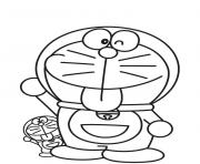 Printable big and litte doraemon cartoon s615a coloring pages