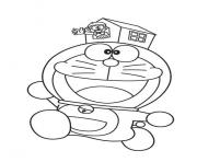 doraemon and small house 589e coloring pages