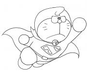 Printable doraemon as superman 2f2d coloring pages