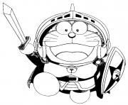 Printable doraemon warrior cartoon s3566 coloring pages