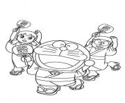 doraemon and friends in summer festival5e88 coloring pages