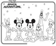 minnie and friends space adventure disney 958a coloring pages