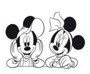 Printable mickey and minnie pose disney 7eb1 coloring pages
