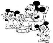 mickey read story disney 812e coloring pages