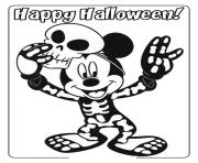 Printable mickey in skull shirt disney b645 coloring pages