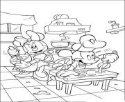 minnie and mickey baking disney 21bf coloring pages