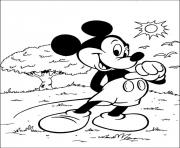 Printable mickey in a sunny day disney 7d13 coloring pages