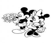 Printable mickey got flowers for mickey disney 0a62 coloring pages