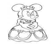 Printable minnie the queen of disney disney 1209 coloring pages