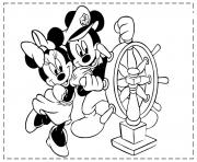 mickey and minnie as sailor disney 3f26 coloring pages