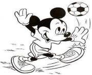 Printable mickey kicking a ball disney 932d coloring pages