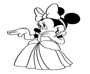 Printable minnie is a lovely girl disney 56e8 coloring pages