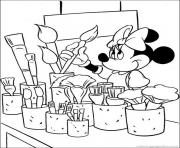 Printable minnie wants to paint disney 02c7 coloring pages