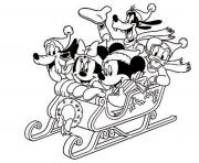 mickey and friends in winter disney 6bb3 coloring pages