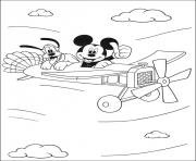 Printable mickey and goofy on the city disney e0d9 coloring pages