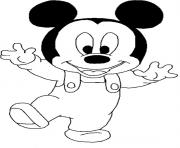 baby mickey walking disney s0cc6 coloring pages