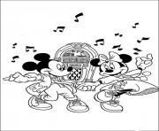 minnie and mickey dancing with old song disney fb86 coloring pages