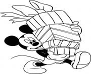 Printable mickey has lots of presents disney f257 coloring pages