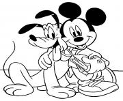 mickey and pluto disney 59f7 coloring pages