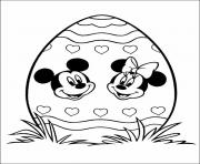 Printable minnie and mickey pictures on egg disney 314d coloring pages