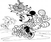minnie doing fruit salsa disney 164e coloring pages