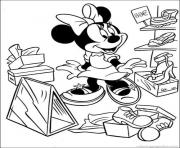 Printable minnie in dept store disney fcd2 coloring pages
